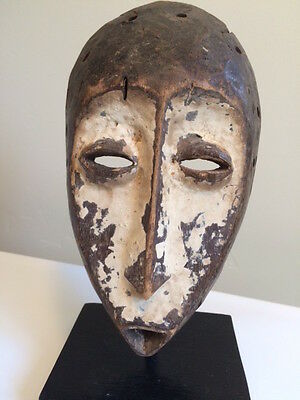 Old African Lega Mask with Stand LOWERED PRICE!
