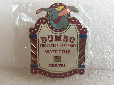 Disney Pin Dumbo Ride - Wait Time Is Changeable - 1 Pin As Shown
