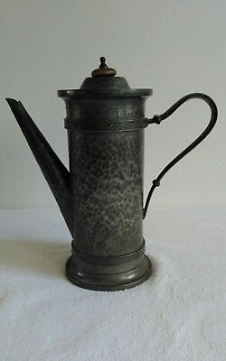 'UNITY' PEWTER COFFEE POT MID TO LATE C19th