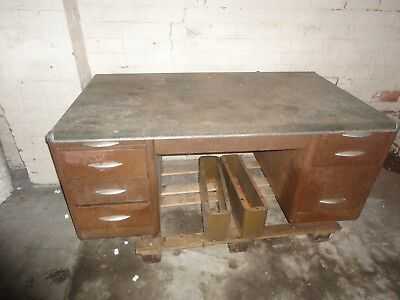 Industrial Metal desk for renovation 1940s/50s