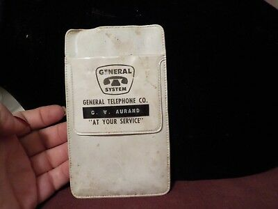 Vintage Plastic Pocket Protector- Genral System Telephone Co. At Your Service