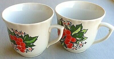 NEW Vintage USSR Russian Small Porcelain China Cup / Set of 2 pieces