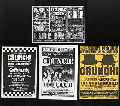 Madness - Nutty Boys / Crunch! - 4 Flyers For Gigs From 2000, 2001 And 2002 Ska