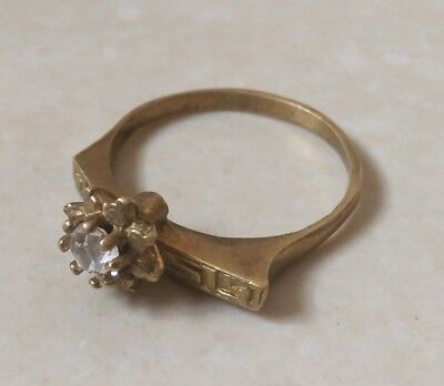 rare ancient antique bronze ring roman beautiful authentic with stone white