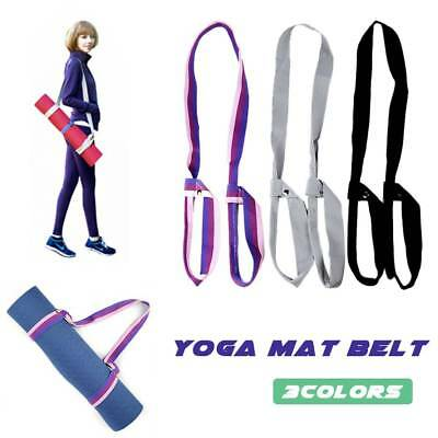 Adjustable Yoga Mat Sling Carrier Cotton Shoulder Strap Belt Exercise Sports Gym