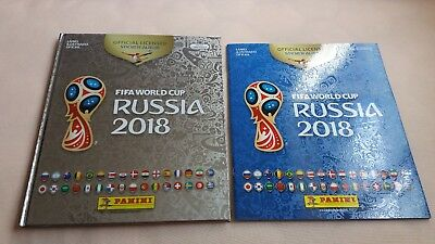 Panini World Cup 2018 Russia Silver Album Limited Ed Hardcover + Soft Brazil
