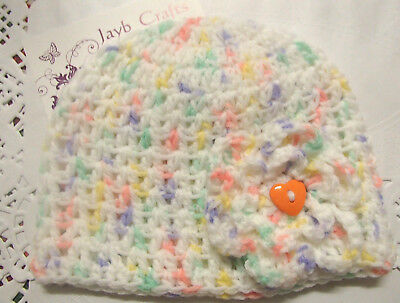 Handmade Crochet Baby Hat in Shepherd baby 8 ply yarn FH309