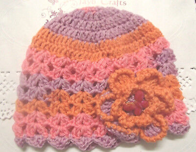 Handmade Crochet Baby Hat in Shepherd 4 ply 100% wool baby yarn FH323