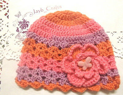 Handmade Crochet Baby Hat in Shepherd 4 ply 100% wool baby yarn FH324