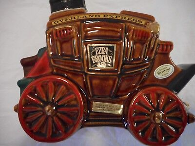 lot of one Ezra Brooks Overland Express Stage Coach Decanter (1969)