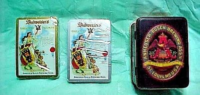 Anheuser-Busch Brewing Association Playing Cards With Tin Box