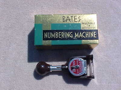 Bates Numbering Machine  6 Wheels Style E With Box