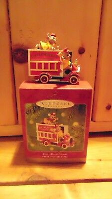 Hallmark Ornament Four Alarm Friends Dicast with  Box 2001