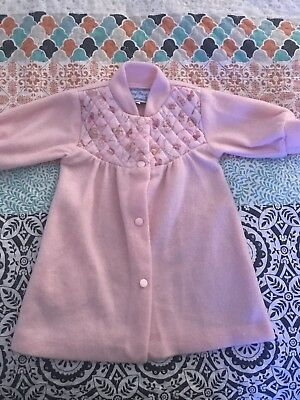 vintage baby girls dressing gown size 00