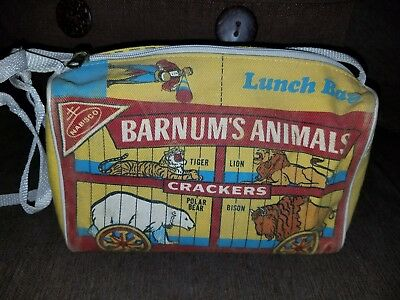 Vintage Nabisco Barnum's Animals Crackers   Zippered lunch Bag Circus 1987