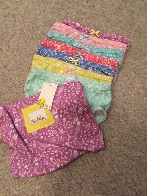 Mini Boden 7 Pack Girks Underwear In Carry Bag NEW