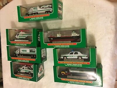 Lot of 7 Hess Toy Truck Miniature 2001 to 2007