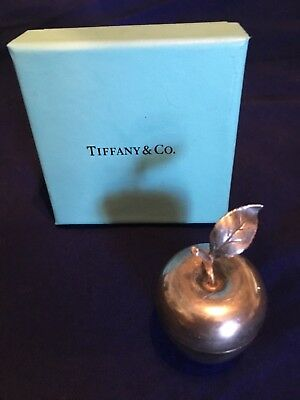 Tiffany & Co  25008 Sterling Silver Apple Pill Box or Trinket Box. 2""