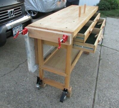 Phenomenal Harbor Freight Woodworkers Workbench Modified With Extra Short Links Chair Design For Home Short Linksinfo