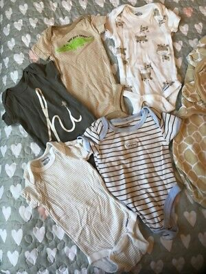 unisex newborn baby clothes lot with swaddle blankets
