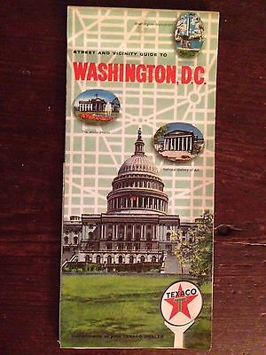 Texaco Star Gas Oil Company Washington DC Road Map 1967