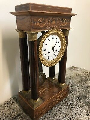 Pendulum Gantry Antique Charles X Clock French Clock Napoleon III