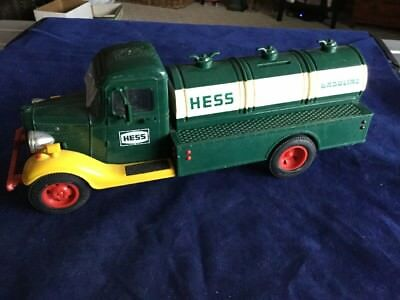 First Hess Truck Toy Piggy Bank Gasoline Truck Green