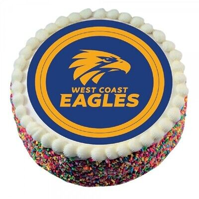 West Coast Eagles Official Edible Icing Cake Topper AFL Birthday Party Logo
