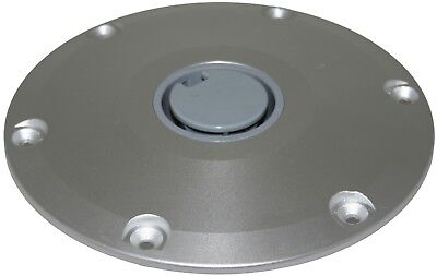 Boat Pedestal Spare Base For Plug-In Post Fits 60mm Post Round Anodised Alum