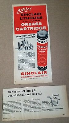 Vintage Sinclair Oil Grease Print Ads
