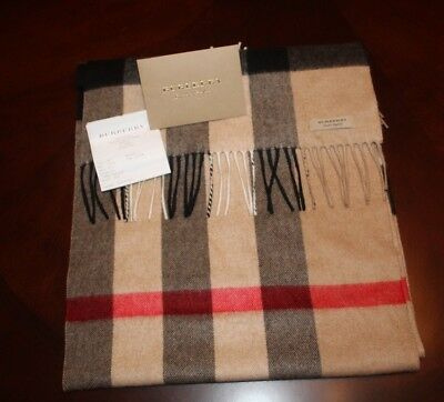 Burberry Large Classic Cashmere Scarf in Check (Receipt Included!)