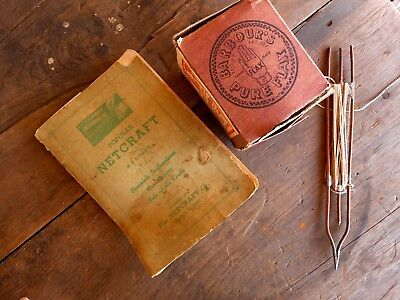 Vintage Barbour's Pure Flax Sinew Copper Netting Shuttle ? Book net Netcraft