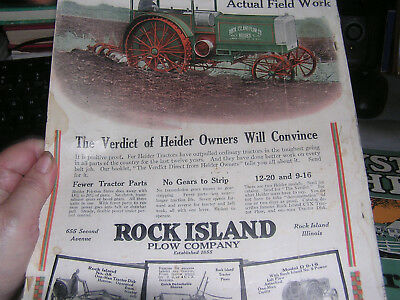 1919 Lot Farming Rock Island Caterpillar Case Cantril Iowa Moline Antique John D