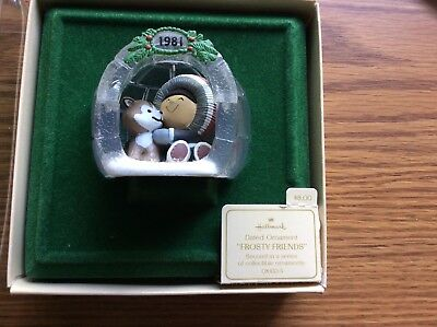 ~Hallmark 1981 *FROSTY FRIENDS* Series Ornament #2 in original box with tag-EXC