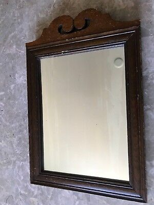 Antique/Vintage Mirror Solid Wood with scroll adornment