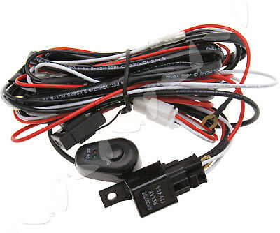 3M 12V 40A LED Work Driving Light Bar Wiring Loom Harness Kit Quick Switch Relay