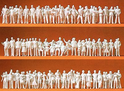 190 unpainted figures for the Scale Model Preiser 74090 Scale 1:100