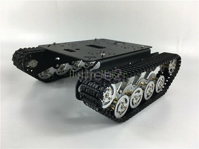 New Metal Robot ATV Tank Chassis Tracked Obstacle Crossing Crawler For Arduino