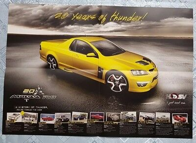 MALOO R8 20th Anniversary brochure poster. 20 years of thunder.