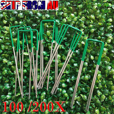 New Primeturf Synthetic Artificial Grass Pins Fake Lawn Turf Weed Mat U Pegs OZ