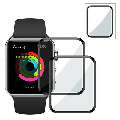 FULL COVER 3D Curved Tempered Glass Screen Protector For Apple Watch iWatch 38mm
