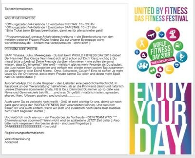 World Fitness Day Ticket