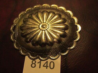 """NB773 1 1//4/"""" NICKEL Brass H.D.Round SADDLE CONCHO new England Brass Star CONCHO"""