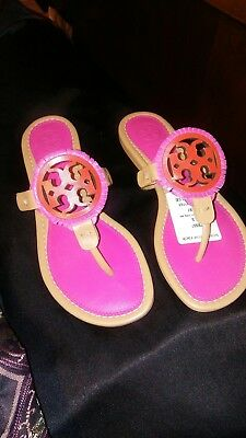 af08952ba92e74 TORY BURCH MILLER Sandal Bright Navy Sparkle Suede Leather Thong ...