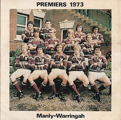 1973 MANLY-Premiers CRONULLA-Runners Up RUGBY LEAGUE FOOTBALL CLUB 45rpm RECORD