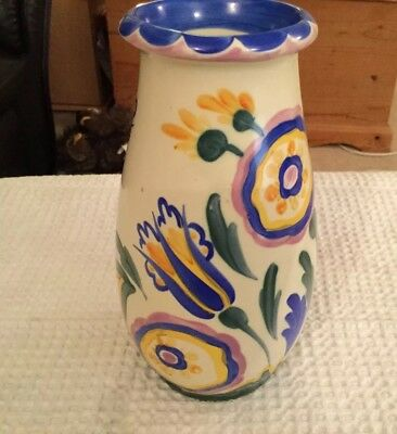 Art Deco Crown Ducal Ware A G Richardson Charlotte Rhead? Vase Rare Pattern