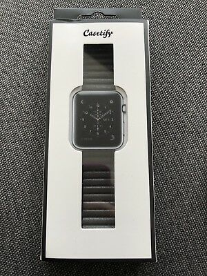 CASETIFY MAGNETIC 38mm APPLE WATCH BAND Armband Grau Kunst Leder Milanese Loop