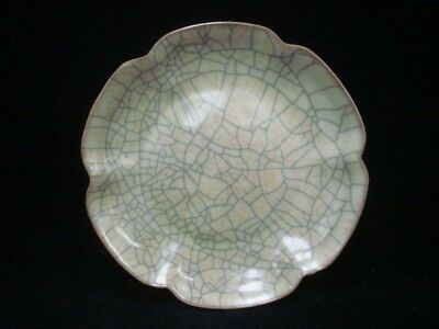 "Very Fine Old Chinese ""Ge"" Kiln Porcelain Collectible Plate Dish"