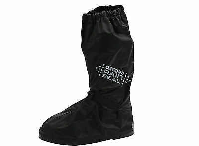 Oxford Rainseal Motorcycle Waterproof All Weather Over Boots L 44-47 Black - T