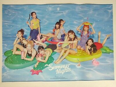Twice - Summer Nights Special Official Unfolded Poster New K-POP